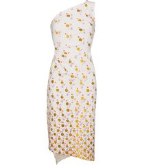 peter pilotto one shoulder floral print dress - white
