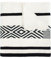 voz comunidad merino-wool scarf - white
