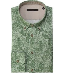 eagle & brown overhemd casual lichtgroen print