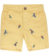 ao76 embroidered bird shorts