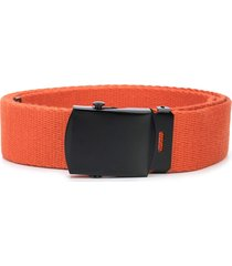 carhartt wip logo print belt - orange