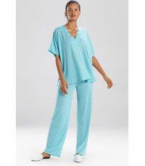 congo dolman pajamas, women's, blue, size l, n natori
