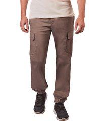 pantalon pmp tipo cargo con elastico en bota taupe