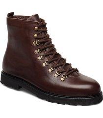 tediq hiker oxford combat boot snörade stövlar brun royal republiq