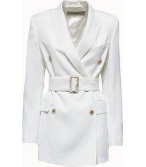 golden goose deluxe brand blazer clizia in viscosa bianca