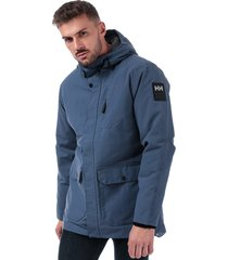 helly hansen mens urban long jacket size l in purple