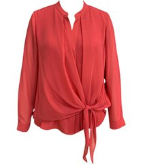 alfani tie-front blouse, created for macy's