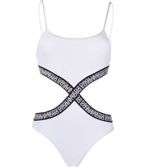 dsquared2 cutout logo one-piece - white