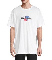 puma men's cotton logo tee - white - size m