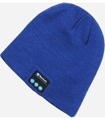 gorro de lana de unisex como audifonos de bluetooth e-thinker - azul