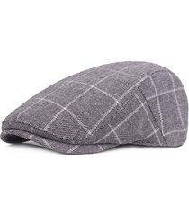 berretto cappola a quadri in tessuto regolabile