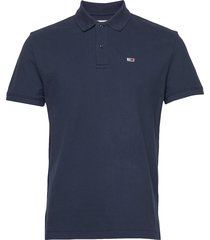 tjm classics solid stretch polo polos short-sleeved blå tommy jeans