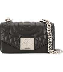 philipp plein small statement shoulder bag - black