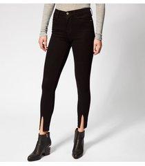 frame women's le high skinny front split jeans - film noir - w26 - black