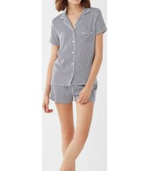 splendid women's notch collar shortie pajama set, online only
