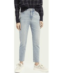 scotch & soda high five high-rise jeans met smalle pijpen – cool water