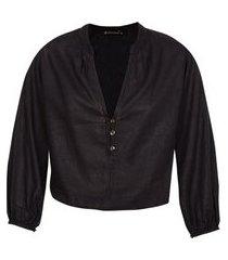 blusa feminina solid grace - preto