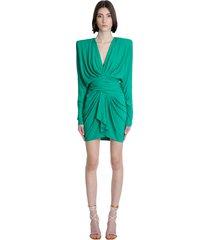 alexandre vauthier dress in green viscose