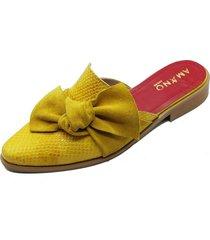 babucha nudo amarilla amano shoes