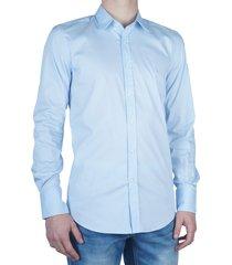 basic slimfit shirt light blue