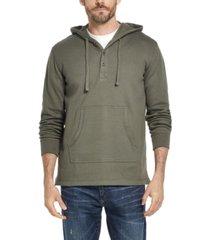 weatherproof vintage men's textured henley hoodie