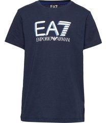 ss t-shirt t-shirts short-sleeved blå ea7