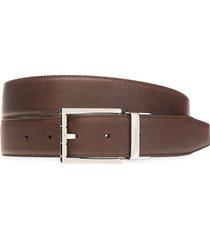 bally men's astor reversible leather belt - mid brown - size 44