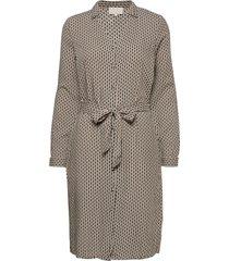 jasmina dress knälång klänning grå minus