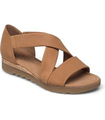 ankle-stap sandal shoes summer shoes flat sandals brun gabor