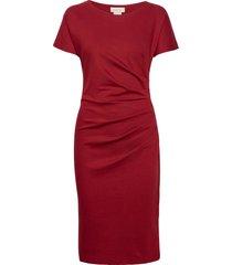 eve ecovero dress jurk knielengte rood residus