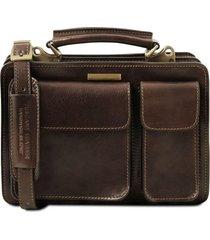 tuscany leather tl141270 tania - borsa a mano in pelle da donna testa di moro