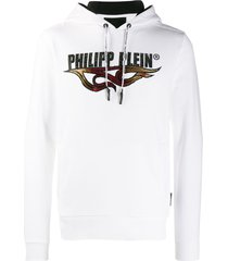 philipp plein flame sweatshirt - white
