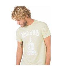 camiseta estampada flamê buddha taco masculina