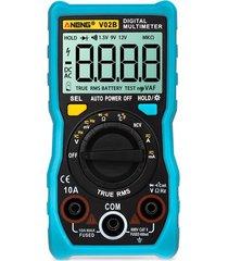 aneng v02b datos multímetro ncv lcd digital capacitancia frecuencia ac