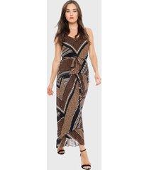vestido ash largo multicolor - calce regular