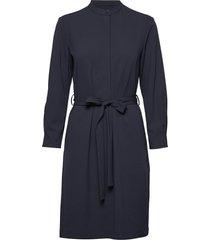 d2. utility shirt dress jurk knielengte blauw gant