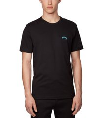 boss men's tee curved black t-shirt