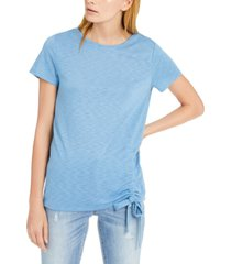 inc petite side-ruched t-shirt, created for macy's