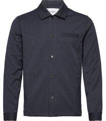 brenti mel. shirt overshirts blauw woodbird