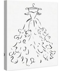 """oliver gal fluffy feather dress canvas art, 18"""" x 24"""""""
