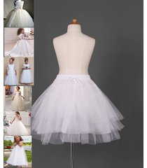 flower girl dress petticoat crinoline underskirt short brida skirt slip