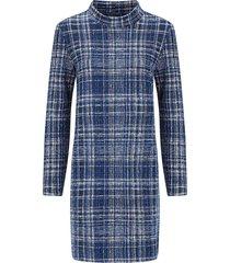 josephine en co donkerblauwe print jurk guillaume jurk - 9716078323
