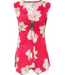 maglia con accessorio gioiello (fucsia) - bodyflirt boutique