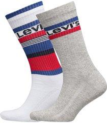 levis regular cut stripe blocks 2p underwear socks regular socks multi/mönstrad levi´s