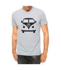 camiseta criativa urbana carro antigo clássico kombi manga curta