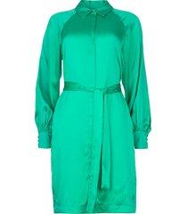 zijden stretch jurk parisa  groen