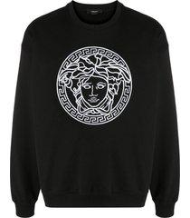versace medusa embroidered sweatshirt