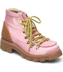 vera, 1154 satin boots shoes boots ankle boots ankle boot - flat rosa stine goya