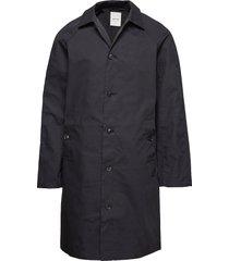 roald coat trenchcoat lange jas zwart wood wood