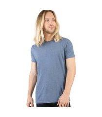 t-shirt básica mescla comfort azul jeans azul jeans/m